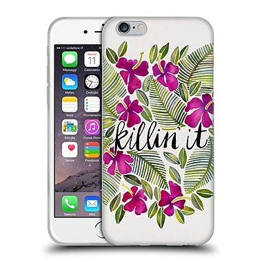 Official Cat Coquillette Quotes Typography 4 Killin' It Pink Soft Gel Case For Apple Iphone 6 / 6S