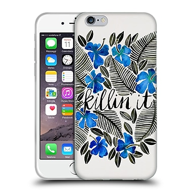 Official Cat Coquillette Quotes Typography 4 Killin' It Blue Soft Gel Case For Apple Iphone 6 / 6S