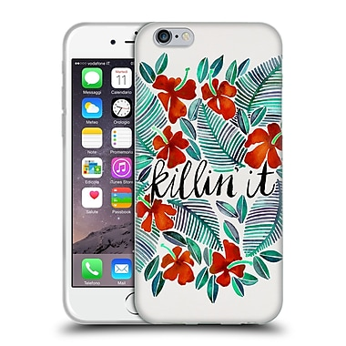 Official Cat Coquillette Quotes Typography 4 Killin' It Red Soft Gel Case For Apple Iphone 6 / 6S