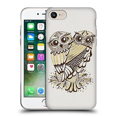 Official Cat Coquillette Birds Owls Brown Gold Soft Gel Case For Apple Iphone 7