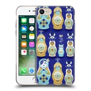 Official Cat Coquillette Watercolour Illustrations Russian Nesting Dolls Navy Soft Gel Case For Apple Iphone 7