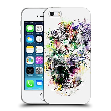 Official Riza Peker Skulls 2 Parrots Soft Gel Case For Apple Iphone 5 / 5S / Se