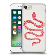 Official Cat Coquillette Animals Snake Pink Soft Gel Case For Apple Iphone 7