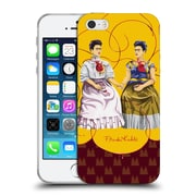 Official Frida Kahlo Self-Portraits Pattern Mix Red Soft Gel Case For Apple Iphone 5 / 5S / Se