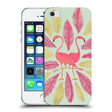 Official Cat Coquillette Birds Flamingos Pink Gold Soft Gel Case For Apple Iphone 5 / 5S / Se