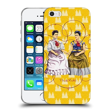 Official Frida Kahlo Self-Portraits Yellow Background Soft Gel Case For Apple Iphone 5 / 5S / Se