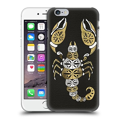 Official Cat Coquillette Insects Black Gold Scorpion Hard Back Case For Apple Iphone 6 / 6S