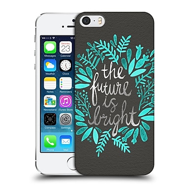 Official Cat Coquillette Quotes Typography 1 Future Is Bright Charcoal Hard Back Case For Apple Iphone 5 / 5S / Se