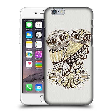 Official Cat Coquillette Birds Owls Brown Gold Hard Back Case For Apple Iphone 6 / 6S