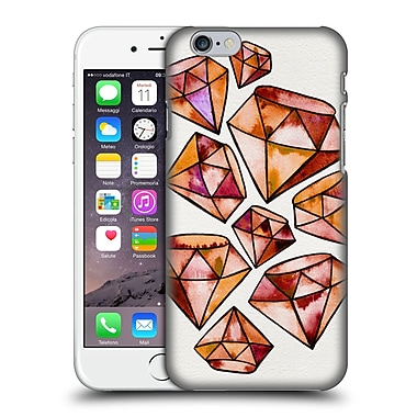 Official Cat Coquillette Watercoloured Gems Orange Tattoo Diamonds Hard Back Case For Apple Iphone 6 / 6S
