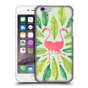 Official Cat Coquillette Birds Flamingos Green Hard Back Case For Apple Iphone 6 / 6S