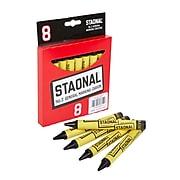 Crayola Staonal Marking Crayons, Black, 8/Box (52-0002-2-051)