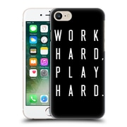 Official Caitlin Workman Typography Work Hard Play Hard Black Hard Back Case For Apple Iphone 7