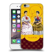 Official Frida Kahlo Self-Portraits Pattern Mix Red Soft Gel Case For Apple Iphone 6 / 6S