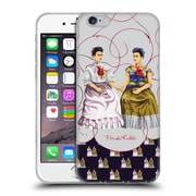 Official Frida Kahlo Self-Portraits Pattern Mix Blue Soft Gel Case For Apple Iphone 6 / 6S