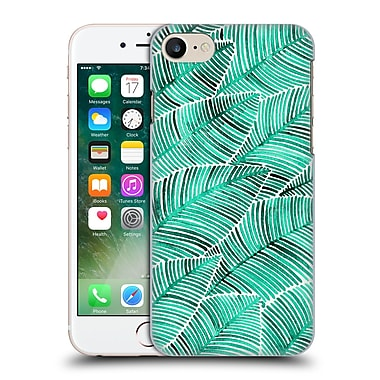 Official Cat Coquillette Patterns Turquoise Tropical Leaves Hard Back Case For Apple Iphone 7