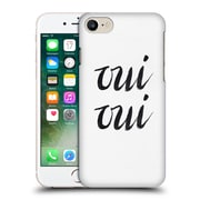 Official Caitlin Workman Typography Oui Oui Hard Back Case For Apple Iphone 7
