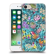 Official Celandine Tropical Pattern Stand Out Teal Hard Back Case For Apple Iphone 7