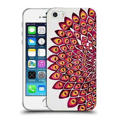 Official Cat Coquillette Mandala Peacock Pink Soft Gel Case For Apple Iphone 5 / 5S / Se