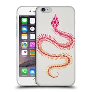 Official Cat Coquillette Animals Pink Ombre Snake Skeleton Soft Gel Case For Apple Iphone 6 / 6S