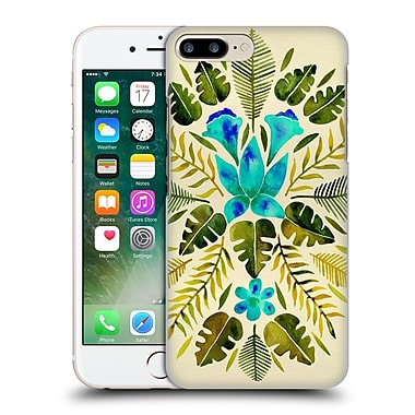 Official Cat Coquillette Nature Green Blue Tropical Symmetry Hard Back Case For Apple Iphone 7 Plus
