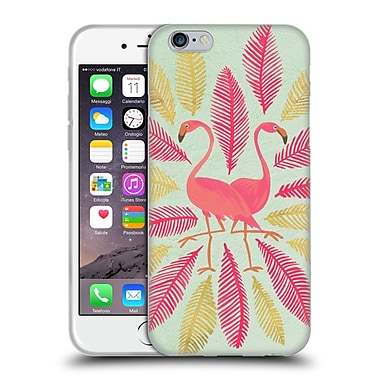 Official Cat Coquillette Birds Flamingos Pink Gold Soft Gel Case For Apple Iphone 6 / 6S