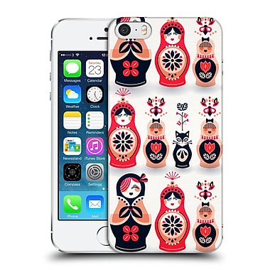 Official Cat Coquillette Watercolour Illustrations Russian Nesting Dolls Pink Navy Hard Back Case For Apple Iphone 5 / 5S / Se