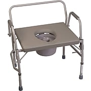 DMI® 500 lbs. Heavy-Duty Steel Commode with Platform Seat, Gray (802-1208-0300)