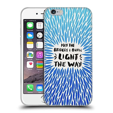 Official Cat Coquillette Quotes Typography 2 Bridges I Burn Blue Soft Gel Case For Apple Iphone 6 / 6S