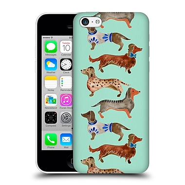 Official Cat Coquillette Animals Blue Dachshunds Hard Back Case For Apple Iphone 5C