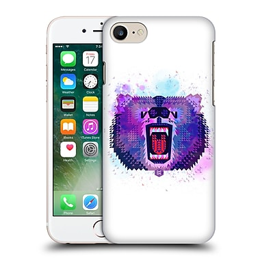 Official Chobopop Animals Lilac Geometric Bear Hard Back Case For Apple Iphone 7