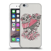 Official Cat Coquillette Birds Owls Grey Red Soft Gel Case For Apple Iphone 6 / 6S