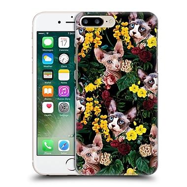 Official Burcu Korkmazyurek Animals Floral And Sphynx Cat Hard Back Case For Apple Iphone 7 Plus