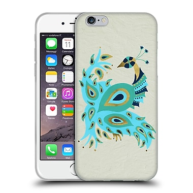 Official Cat Coquillette Birds Peacock Gold Soft Gel Case For Apple Iphone 6 / 6S