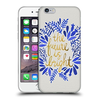 Official Cat Coquillette Quotes Typography 1 Future Is Bright Gold Soft Gel Case For Apple Iphone 6 / 6S