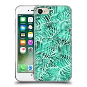 Official Cat Coquillette Patterns Turquoise Tropical Leaves Soft Gel Case For Apple Iphone 7