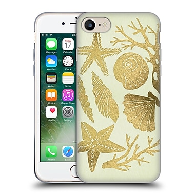 Official Cat Coquillette Sea Seashells Gold Soft Gel Case For Apple Iphone 7