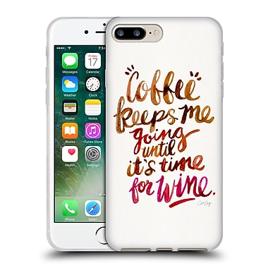 Official Cat Coquillette Quotes Typography 3 Coffee & Wine Brown Soft Gel Case For Apple Iphone 7 Plus