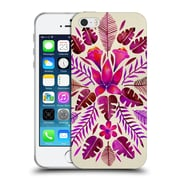Official Cat Coquillette Nature Magenta Tropical Symmetry Soft Gel Case For Apple Iphone 5 / 5S / Se