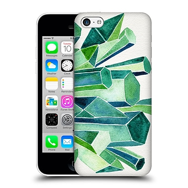 Official Cat Coquillette Watercoloured Gems Emerald Hard Back Case For Apple Iphone 5C
