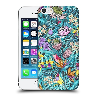 Official Celandine Tropical Pattern Stand Out Teal Hard Back Case For Apple Iphone 5 / 5S / Se
