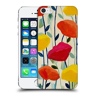Official Carrie Schmitt Florals Cheerful Poppies Hard Back Case For Apple Iphone 5 / 5S / Se
