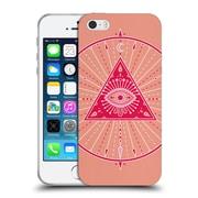 Official Cat Coquillette Mandala Evil Eye Pink Soft Gel Case For Apple Iphone 5 / 5S / Se