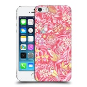 Official Celandine Tropical Pattern Stand Out Pink Pastel Hard Back Case For Apple Iphone 5 / 5S / Se