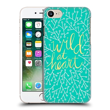 Official Cat Coquillette Quotes Typography 3 Wild At Heart Turquoise Hard Back Case For Apple Iphone 7