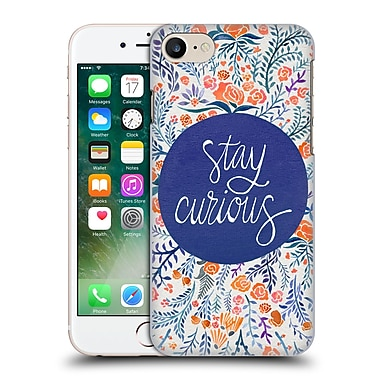 Official Cat Coquillette Quotes Typography 4 Stay Curious Navy Hard Back Case For Apple Iphone 7