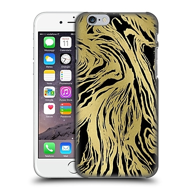 Official Caitlin Workman Patterns Marble Gold Black Hard Back Case For Apple Iphone 6 / 6S