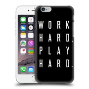 Official Caitlin Workman Typography Work Hard Play Hard Black Hard Back Case For Apple Iphone 6 / 6S