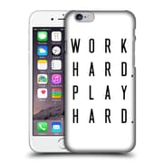 Official Caitlin Workman Typography Work Hard Play Hard Hard Back Case For Apple Iphone 6 / 6S