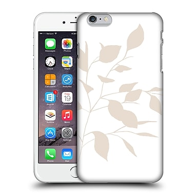Official Caitlin Workman Organic Spring Leaf Tan White Reversed Hard Back Case For Apple Iphone 6 Plus / 6S Plus